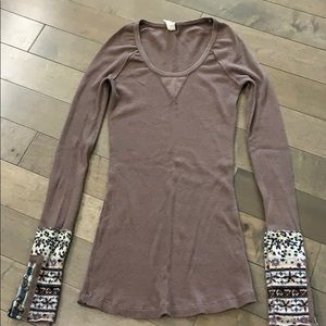 Free People Hyperactive Hippie thermal, Mocha
